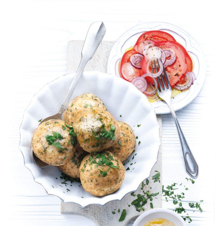 Osteknødler med smør