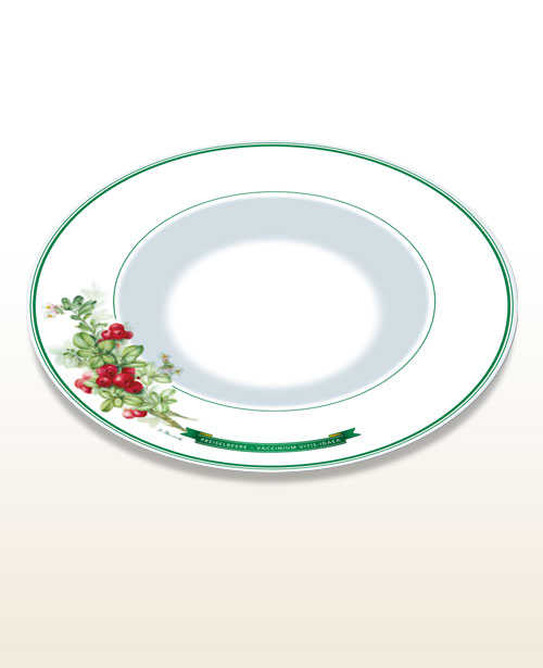 Gourmet- og pastatallerken tyttebær