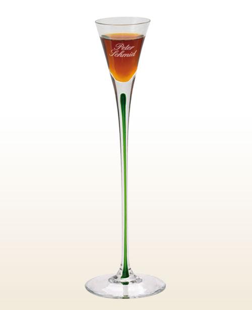 Underberg bicolor designstilglas med indgravering
