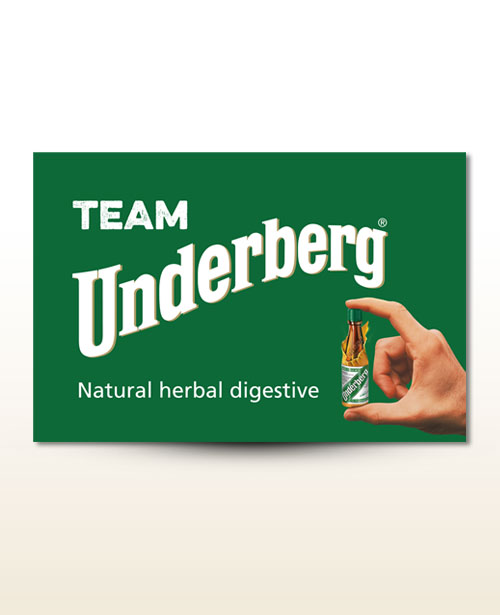 Den originale Team Underberg-fane