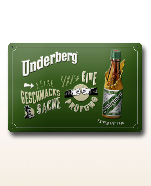 "Underberg metal sign ""Geschmackssache"""