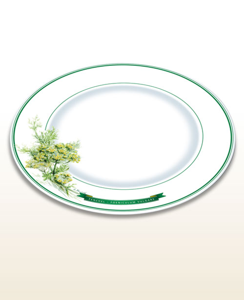 Herbal motif plate fennel