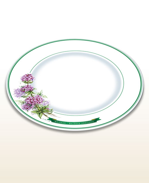 Herbal design plate marjoram