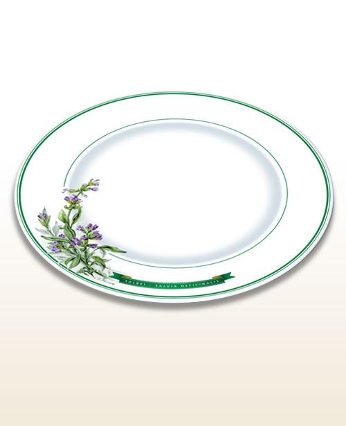 Herbal motif plate sage