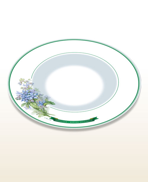 "Gourmet and pasta plate – motif ""borage"""