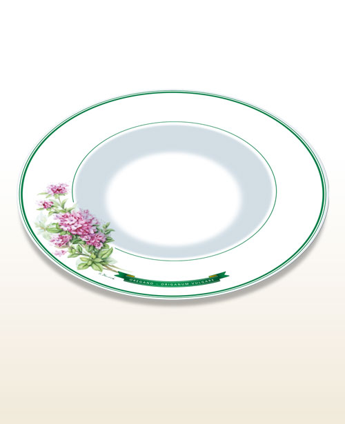 "Gourmet and pasta plate – motif ""oregano"""