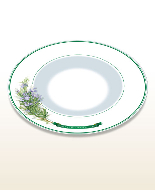"Gourmet and pasta plate – motif ""rosemary"""