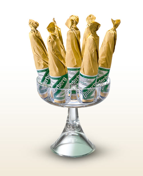 Underberg crystal glass display