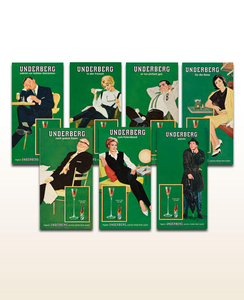 Underberg card-sized tin signs
