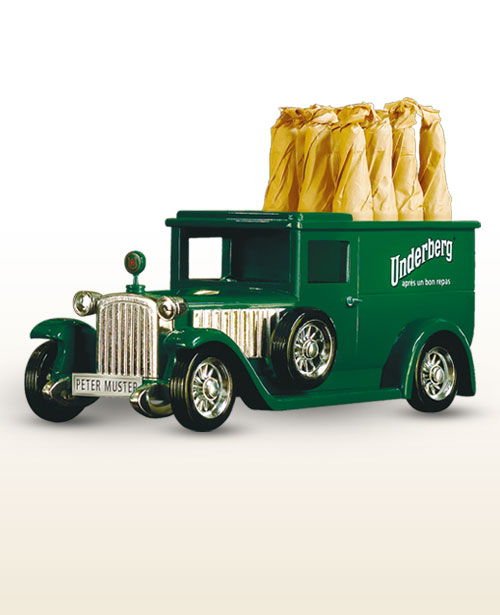 Underberg herbal truck with personalized number plates