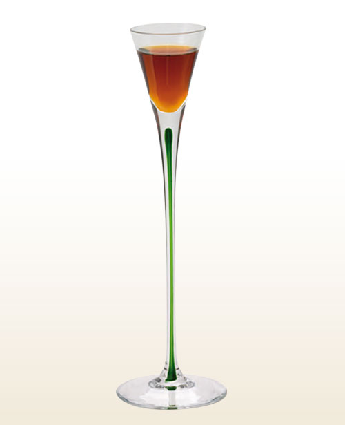Underberg bicolour design glass
