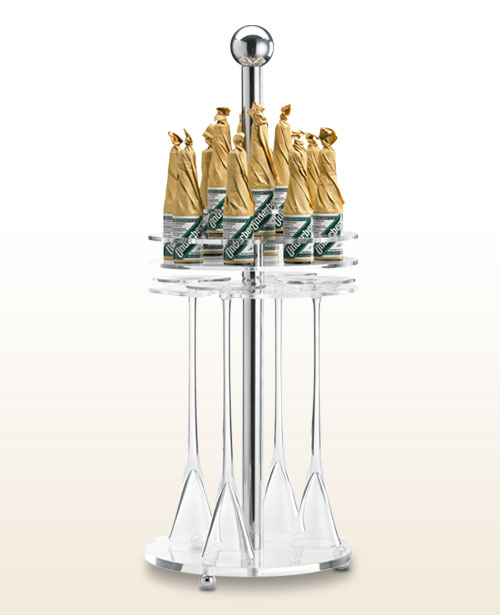 Underberg tall glass rack