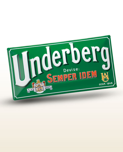 Underberg wall-sized tin signs