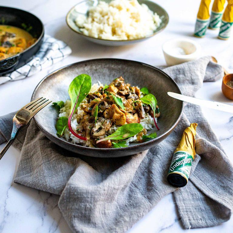 Underberg chicken stew with rice