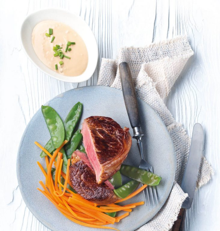 Kalvestek med Asbach-saus