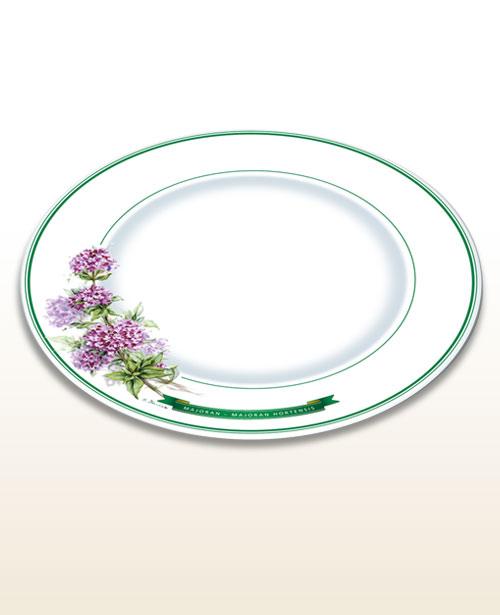 Prato com motivo de ervas – manjerona