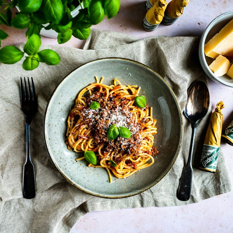 Schnelle Underberg Spaghetti Bolognese