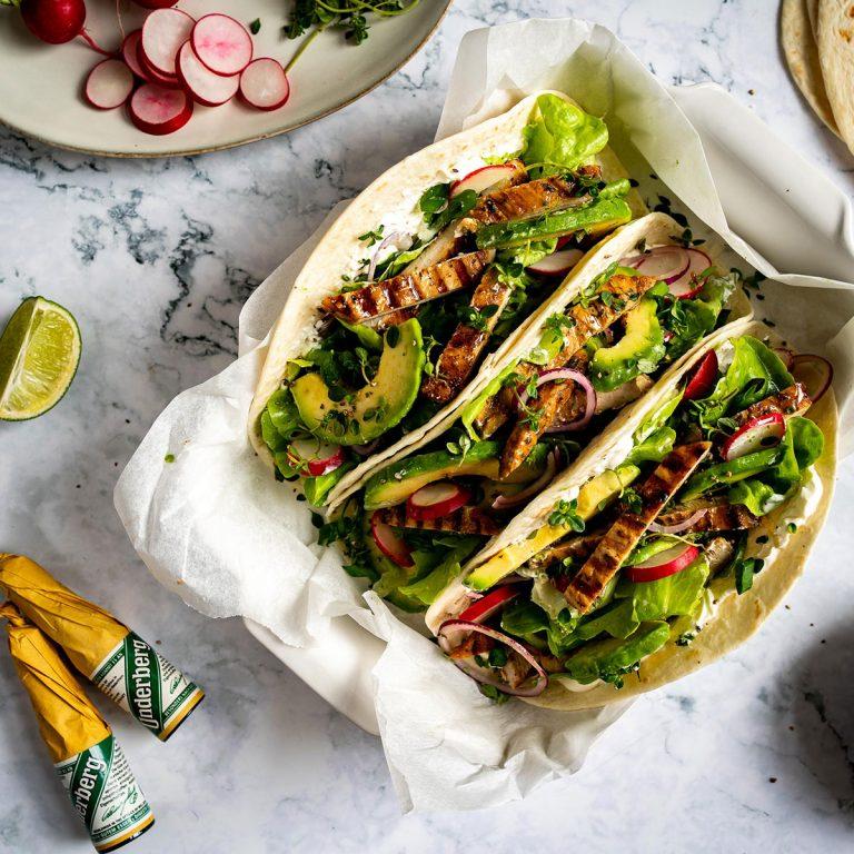 Underberg Tacos mit gegrilltem Schweinefleisch